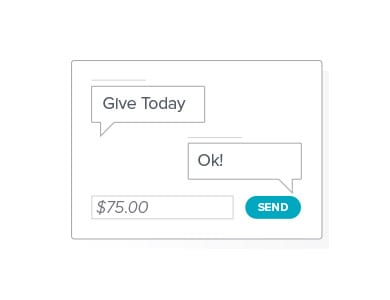 Text-to-give is a great tithing method whenever and wherever your members may be.